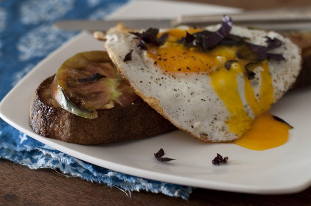 Bread, tomato, egg - HANNAH PALMER EGAN
