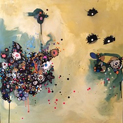 Painting by Sage Tucker-Ketcham - COURTESY OF KARMA BIRD HOUSE GALLERY