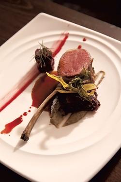 Junction's lamb chop with beets - MATTHEW THORSEN