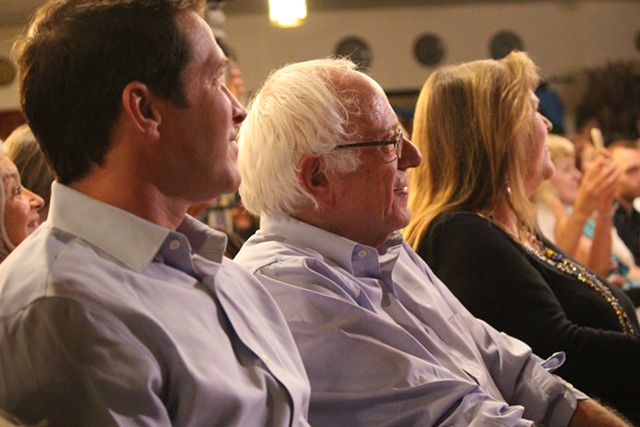 Sen. Bernie Sanders and his family at Our Revolution's launch event Wednesday in Burlington - PAUL HEINTZ
