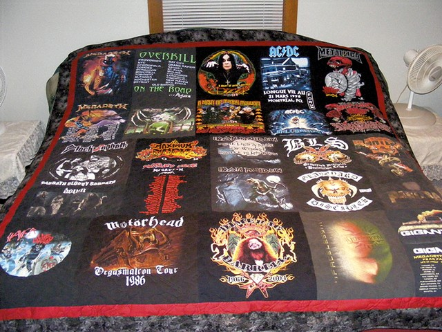 Quilt made from Dennis and Sean's T-shirts - PHOTOS COURTESY OF PENNY THIBAULT