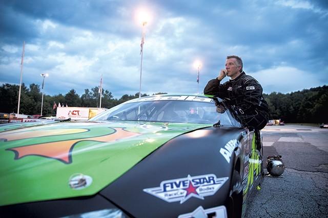 Lt. Gov. Phil Scott last month at Barre's Thunder Road SpeedBowl - FILE: JAMES BUCK