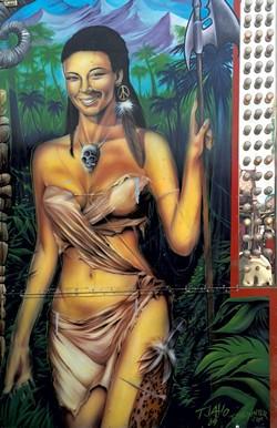 Jungle Walk ride, detail, TJ Aho.