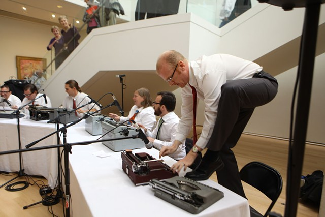 Boston Typewriter Orchestra performing in 2011 - COURTESY OF BTO