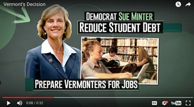 A Democratic Governors Association advertisement supporting Sue Minter for governor - SCREENSHOT