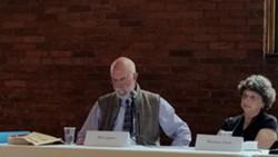 Bill Lippert and Michele Clark on a panel - KEVIN J. KELLEY