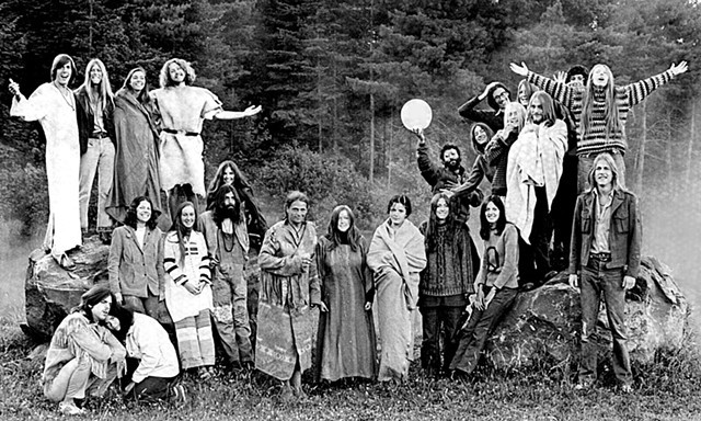 Goddard College students, 1971 - COURTESY OF GODDARD COLLEGE ARCHIVES