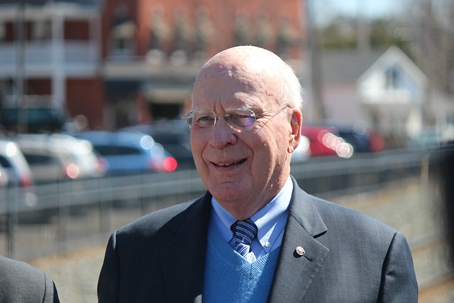 Sen. Patrick Leahy in April - FILE: PAUL HEINTZ