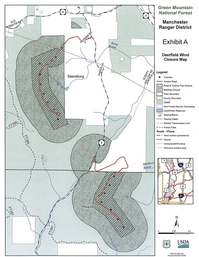 A map of the affected areas - U.S. FOREST SERVICE