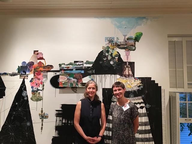 Artist Sally Gil and curator Sophie Bréchu-West - SADIE WILLIAMS