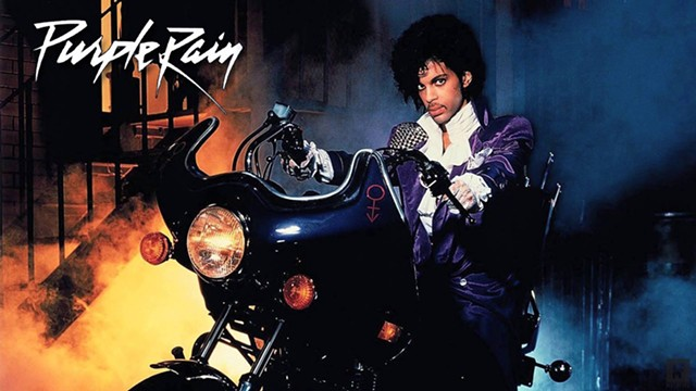 Film poster detail, Purple Rain - COURTESY OF TOWN HALL THEATER