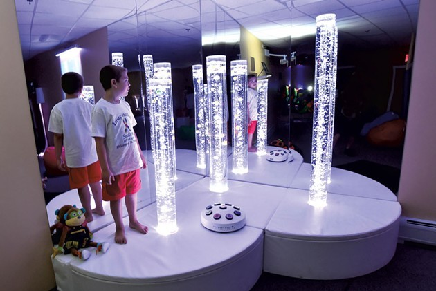 Bubble tubes in the Imagination Station - JEB WALLACE-BRODEUR