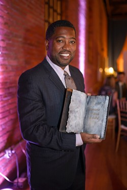 Major Jackson with the Vermont Book Award - COURTESY OF VERMONT COLLEGE OF FINE ARTS