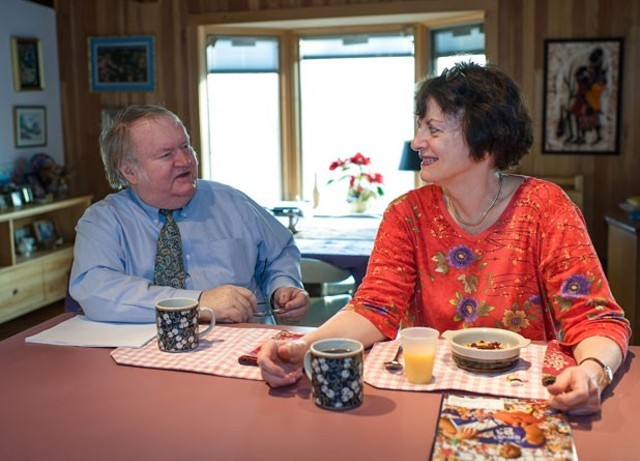 Justice John Dooley with his wife, Sandy Dooley - FILE PHOTO