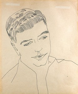 """""""Untitled (Portrait of a Young Man)"""" by Andy Warhol - COURTESY OF FLEMING MUSEUM OF ART"""