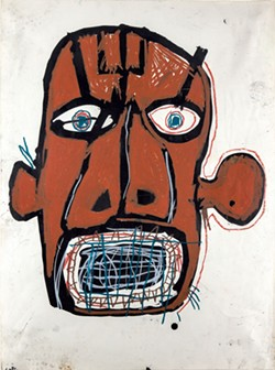 """""""Untitled (Head)"""" by Jean-Michel Basquiat - COURTESY OF FLEMING MUSEUM OF ART"""