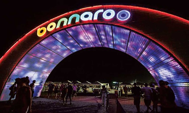 Arch at Bonnaroo - COURTESY OF RUSS BENNETT