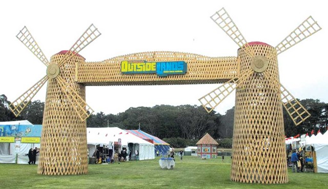 Windmills at Outside Lands, circa 2008 - COURTESY OF RUSS BENNETT