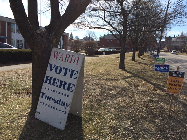 Burlington Ward One polling place at Mater Christi School - MARK DAVIS