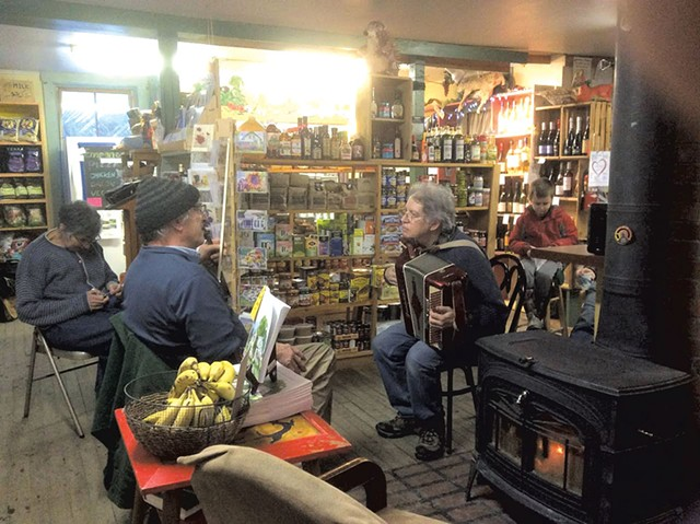 Jam session at the Adamant Co-op, 2015 - COURTESY OF ANDREA SEROTA