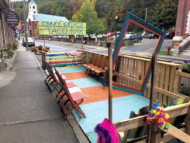 The Crazy Gringo Taco Bar, a pop-up restaurant on Main Street - KIRK KARDASHIAN