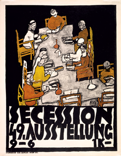 49th Secession exhibit poster by Egon Schiele - PHOTOS COURTESY OF MIDDLEBURY COLLEGE MUSEUM OF ART