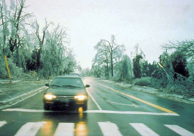 Main Street in Burlington after the 1998 ice storm - COURTESY OF WARREN SPINNER