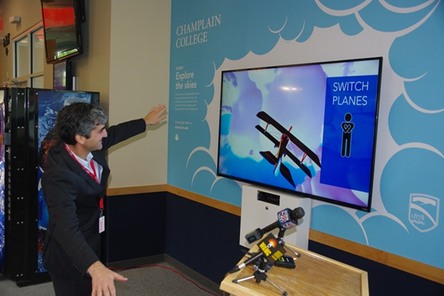 "Burlington Mayor Miro Weinberger with ""Flight"" - STEVE MEASE"
