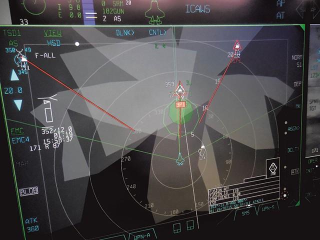 F-35 tactical  display - COURTESY OF ADAM L. ALPERT