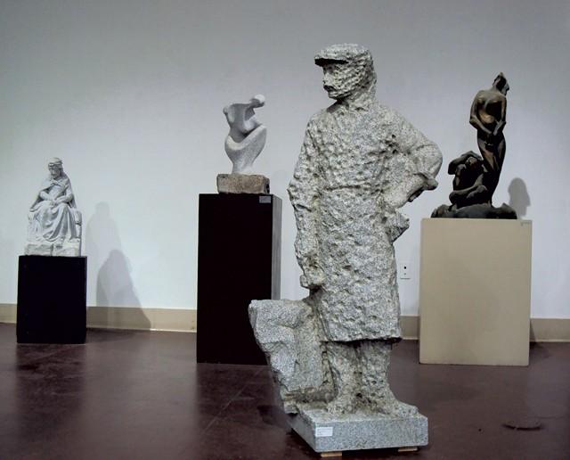 """Stone Cutter a Punto"" (foreground) by Giuliano Cecchinelli - COURTESY OF STUDIO PLACE ARTS"