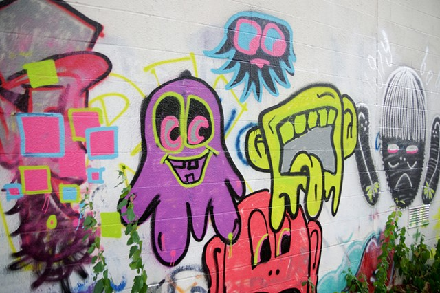 Champlain College students' back wall mural - STEPHEN MEASE