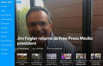 Burlington Free Press website - SCREENSHOT