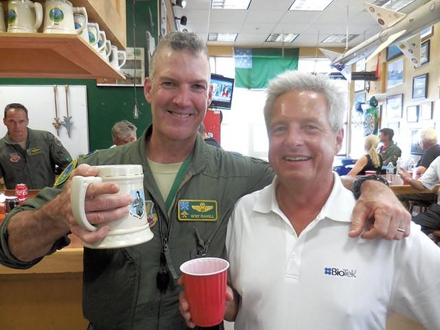 Left to right: Lt. Col. John Rahill and Adam L. Alpert - COURTESY OF ADAM L. ALPERT