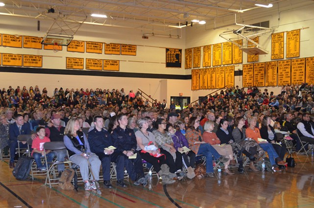 The packed gymnasium - ALICIA FREESE