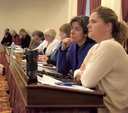 House Majority Leader Sarah Copeland Hanzas, right - FILE: TERRI HALLENBECK