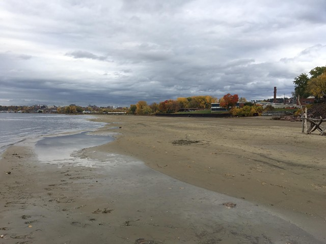 The view of downtown Burlington from the Lakeside neighborhood shows Lake Champlain's widening shoreline. - CHARLOTTE SCOTT