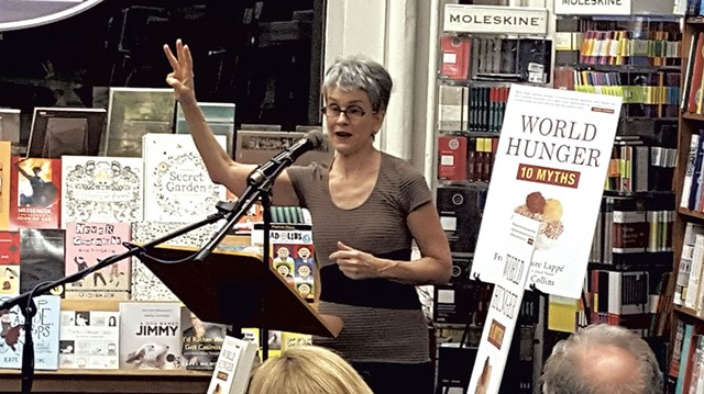 Harvard Book Store launch event - COURTESY OF FRANCES MOORE LAPPÉ