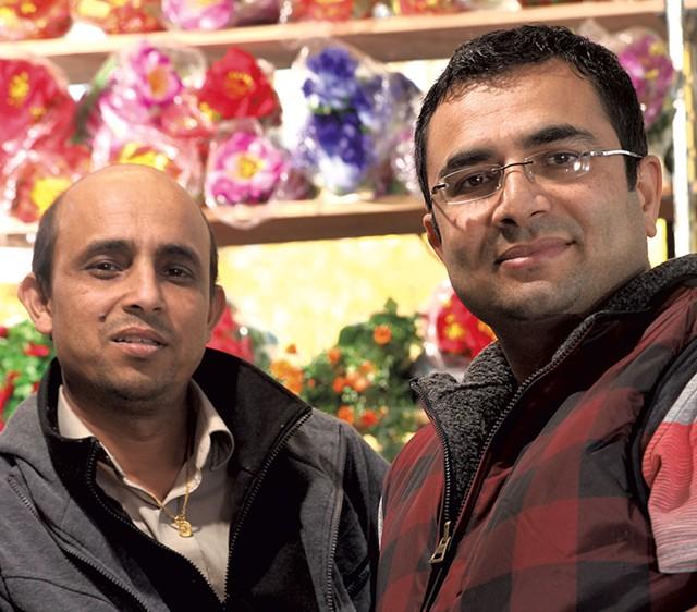 Chandra Pokhrel, left,  and Bhuwan Sharma - MATTHEW THORSEN