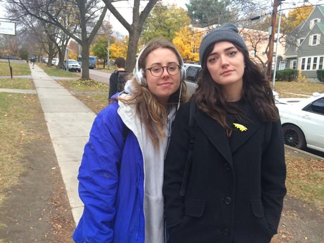 UVM seniors Caroline Bick and Hayley Wheelwright - ALICIA FREESE