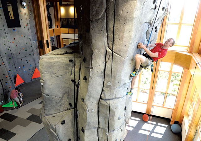 A climber at Stowe Mountain Resort's new Adventure Center - FILE: JEB WALLACE-BRODEUR