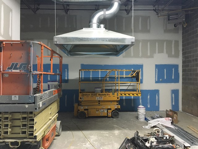A new ventilation hood in the welding room at 40 Sears Lane - SADIE WILLIAMS