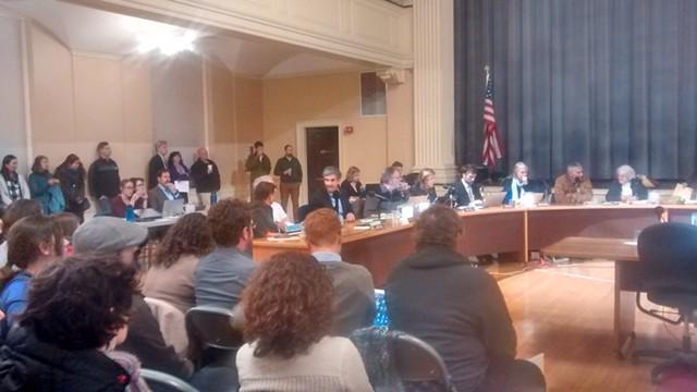A large crowd at Burlington City Council - KATIE JICKLING