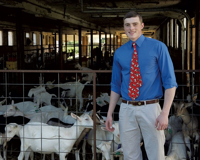 Jay Hooper on his family's goat farm