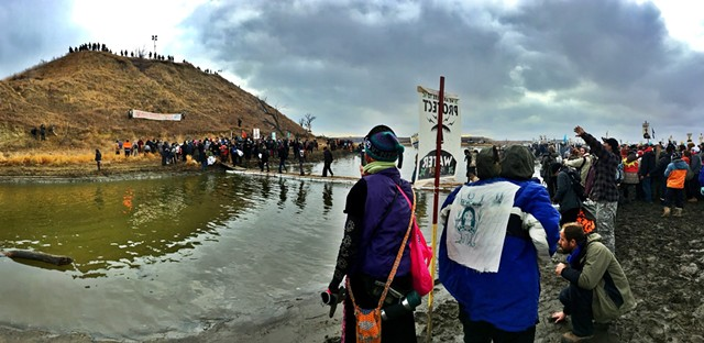 Standing Rock, November 24, 2016 - COURTESY OF AVI SALLOWAY