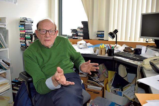 Sen. Bill Doyle in his Johnson State College office - TERRI HALLENBECK/FILE