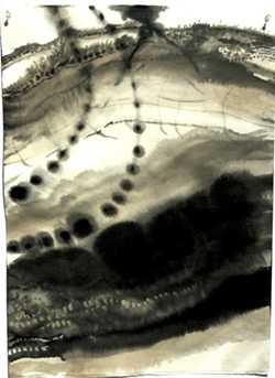 "Drawings from ""Deluge"" series by Brenda Garand - COURTESY OF BRENDA GARAND"