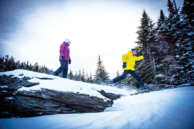 Snowshoeing at Smugglers' Notch Resort - COURTESY OF SMUGGLERS' NOTCH RESORT