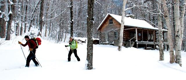 Snowshoeing at Slayton Pasture Cabin - FILE: BRIAN MOHR