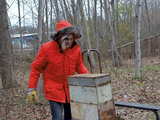Stephen Marshall at a Burlington homeless encampment - KATIE JICKLING