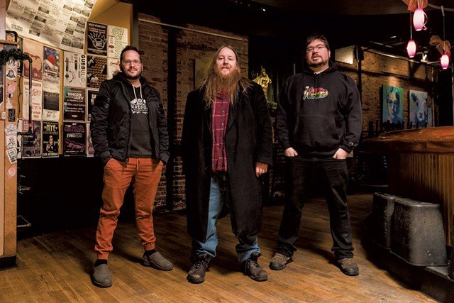 Left to right: Steve Hadeka, Seth Yacovone and Alex Budney - OLIVER PARINI